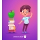 Boy with Books - GraphicRiver Item for Sale
