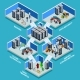 Datacenter Isometric Design Concept  - GraphicRiver Item for Sale