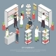City Pharmacy Interior Isometric Composition - GraphicRiver Item for Sale