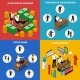 Business Office 4 Isometric Icons Square  - GraphicRiver Item for Sale