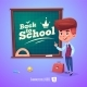 Boy Near Blackboard Back To School - GraphicRiver Item for Sale