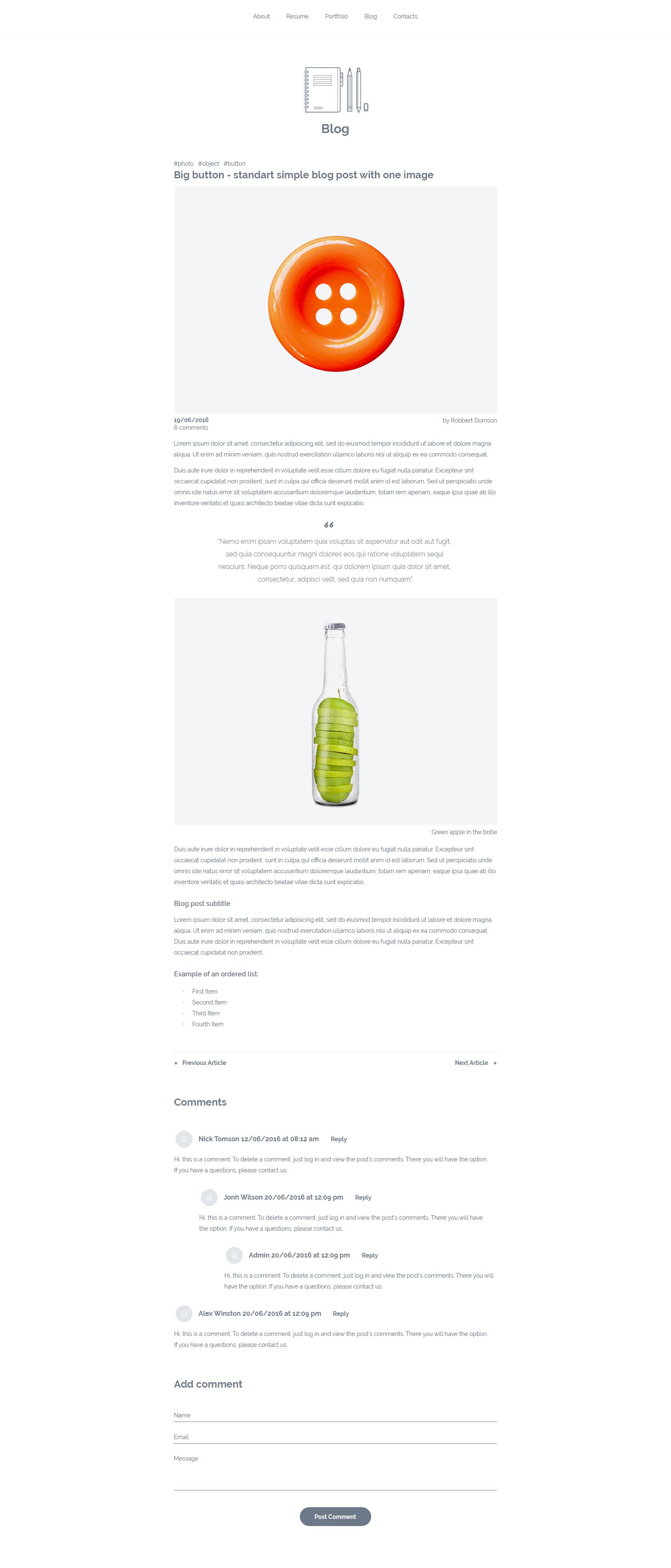 mydesktop – one page personal cv resume template by ukieweb