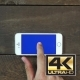 Singe Tap Hand Smartphone With Blue Screen - VideoHive Item for Sale