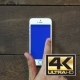 Swipes Left Hand Smartphone With Blue Screen - VideoHive Item for Sale