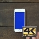 Swipes Up Hand Smartphone With Blue Screen - VideoHive Item for Sale