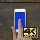 Single Tap Hand Smartphone With Blue Screen - VideoHive Item for Sale