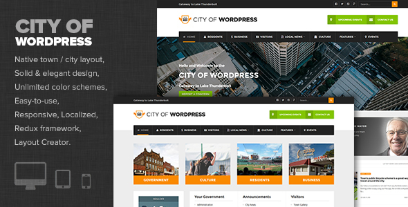 City of WP- Town / City Government & Municipal WP theme