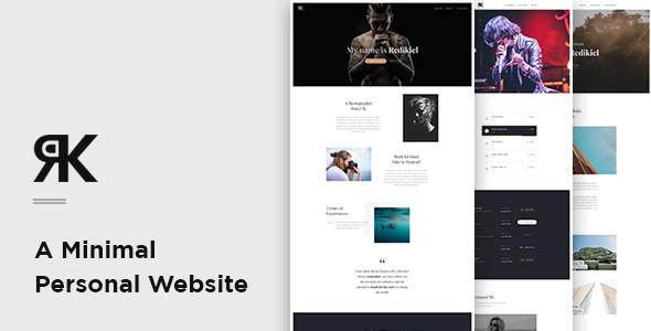 REDIKIEL – Onepage Minimal Personal Website PSD Template