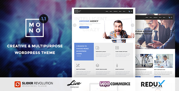 Mono - Creative Multipurpose WordPress Theme - Creative WordPress