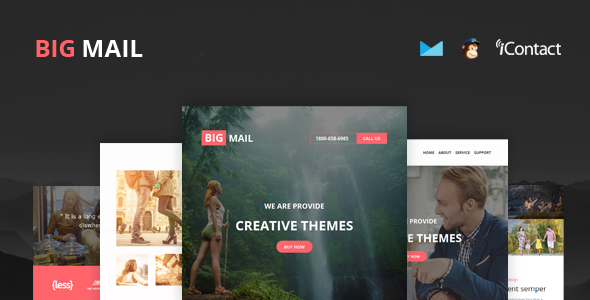 Big Mail – Responsive E-mail Template + Online Access