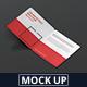 Square Bi-Fold Brochure Mock-Up - Round Corner - GraphicRiver Item for Sale