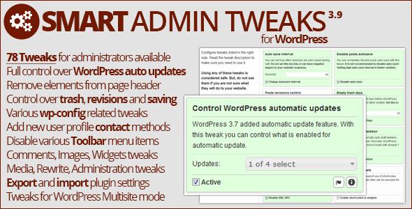 Smart Admin Tweaks