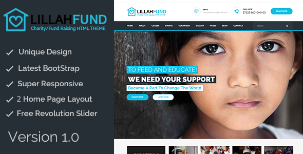 Lillah Fund || Charity and help HTML5 template