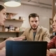 Creative Team Discussion Working Together In Cafe - VideoHive Item for Sale