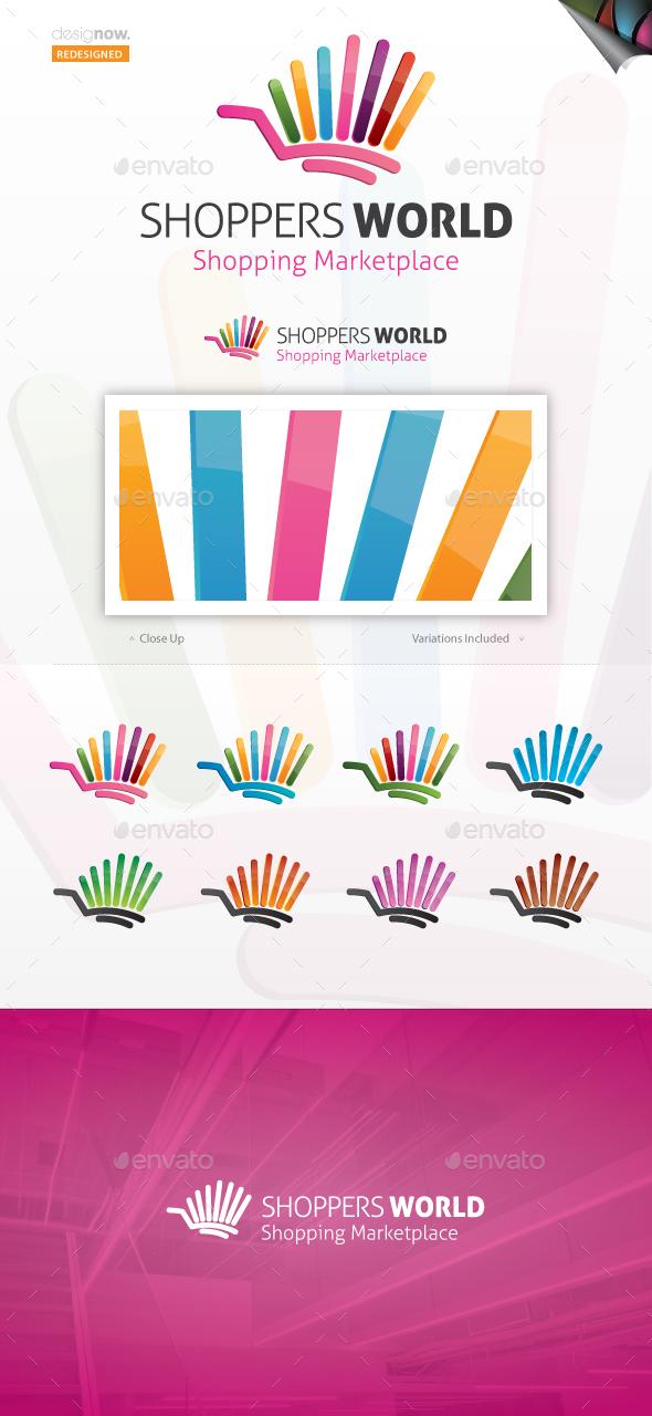 Shoppers World Logo - Vector Abstract