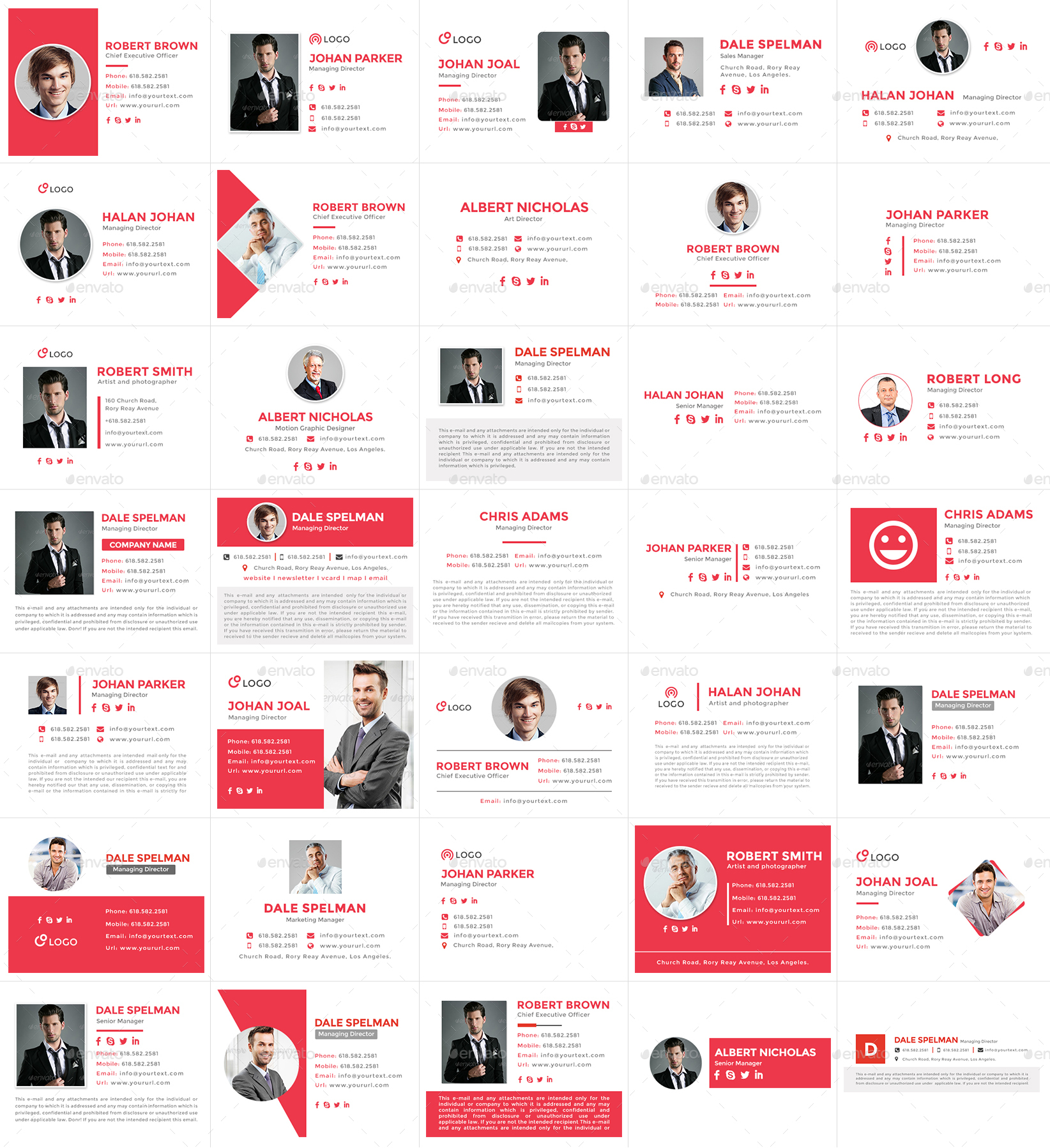 350 Email Signature Templates - HTML Files Included by doto ...
