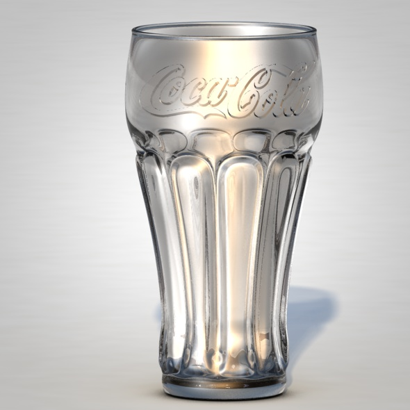 Coca-Cola Glass - 3DOcean Item for Sale