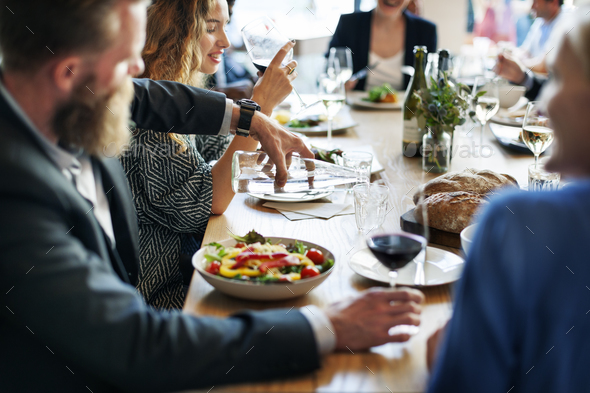 Food Festive Restaurant Party Unity Concept - Stock Photo - Images