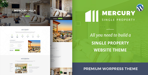 Mercury – Responsive Single Property WordPress Theme For Real Estate