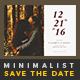 Minimalist Save The Date Postcard | Volume 4 - GraphicRiver Item for Sale