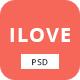 iLove - Creative Online Fashion PSD Template
