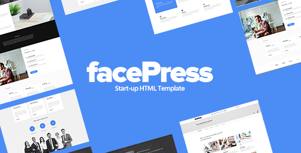 facePress – Start-up HTML Template
