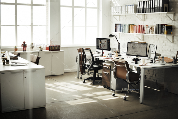 Contemporary Room Workplace Office Supplies Concept - Stock Photo - Images