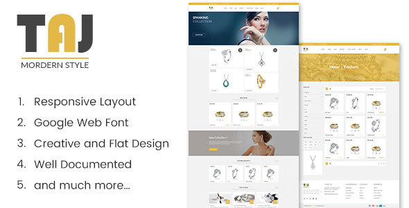Taj - Jewellery Shopify Theme