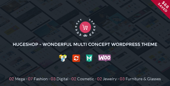 HugeShop - Wonderful Multi Concept WordPress Theme