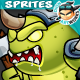 Monster Game Enemies Character Sprites 234 - GraphicRiver Item for Sale