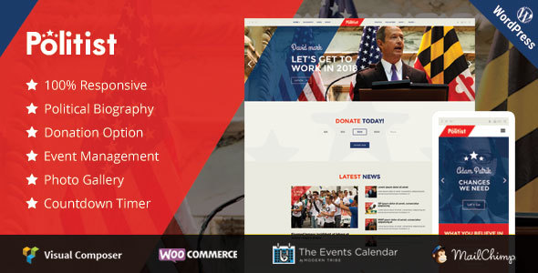 Politist – Responsive WP Theme for Politicians-Activism