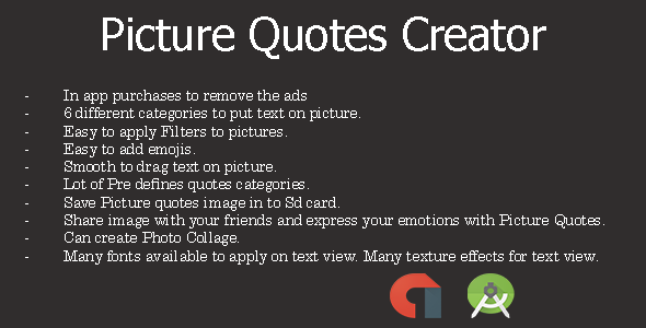 Picture Quotes Android App + Admob  - CodeCanyon Item for Sale