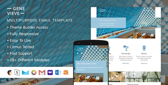 Genevieve – Responsive Email + StampReady Builder