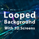 Looped Background With 3D Screens - VideoHive Item for Sale