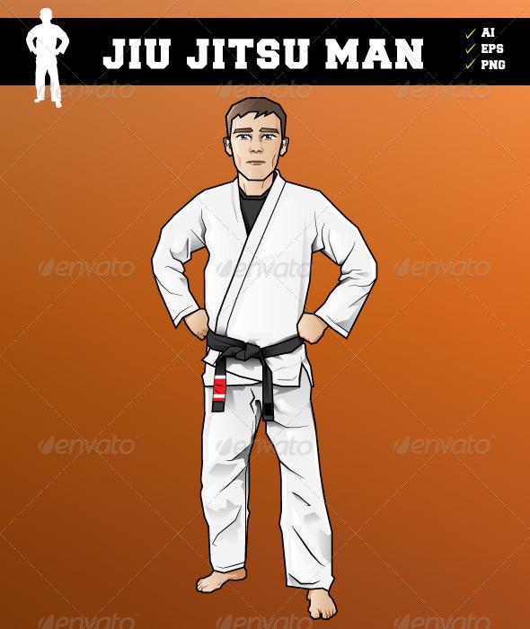 Jiu Jitsu Man - Characters Vectors