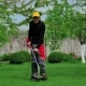Gardener Cutting Grass With Trimmer - VideoHive Item for Sale