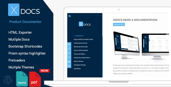 X Docs Wordpress Product Documentation Creator - CodeCanyon Item for Sale