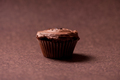 Sweet and creamy chocolate muffin or cupcake at restaurant - PhotoDune Item for Sale