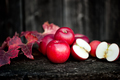 Fresh red, organic apples from autumn harvest. Agriculture harve - PhotoDune Item for Sale