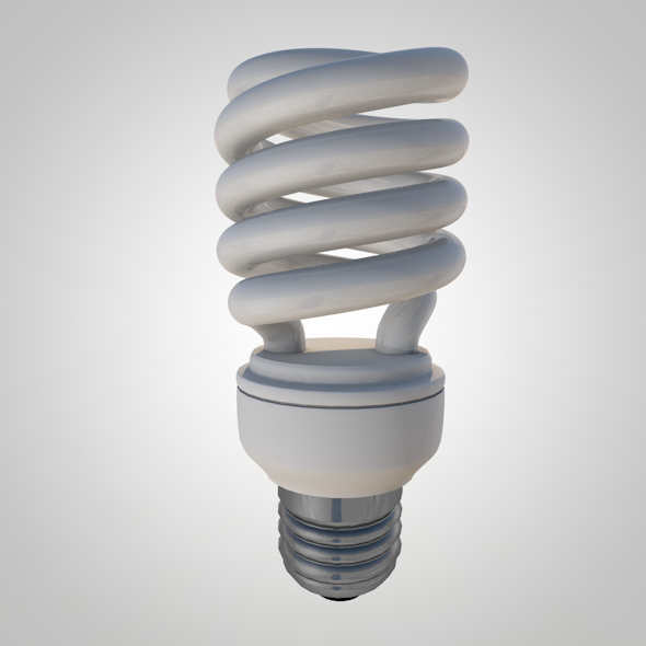 Fluorescent Light Bulb - 3DOcean Item for Sale