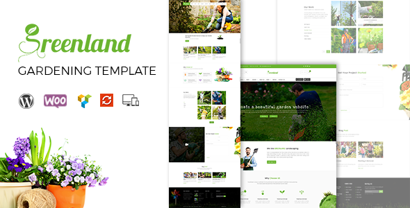 Greenland – Gardening, Landscaping, Shop & Blog WordPress Theme