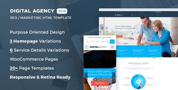 Digital Agency – SEO / Marketing HTML Template