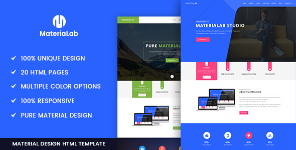 Materialab – Multi Concept Material HTML5 Template