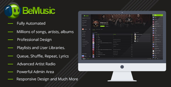 BeMusic - Music Streaming Engine - CodeCanyon Item for Sale