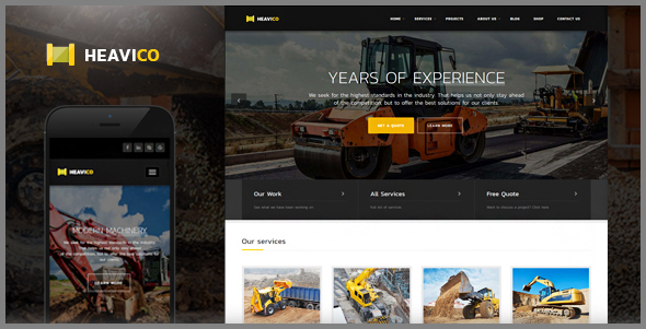 Heavico – Construction HTML Template