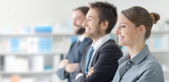Business people at the seminar - Stock Photo - Images