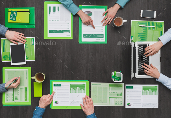 Green business team - Stock Photo - Images