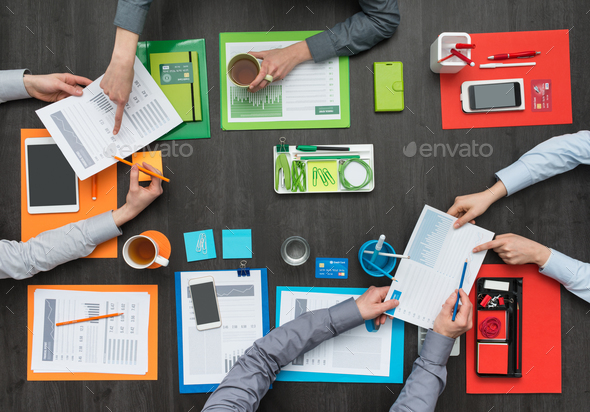 Colorful creative workspace - Stock Photo - Images