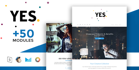 Yes – Modern Email Template + Online Access
