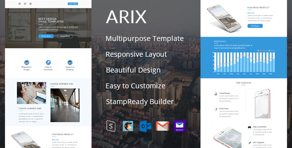 Arix – Email Template + StampReady Builder